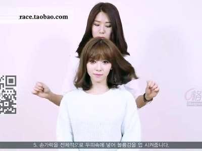 韩国美女空气刘海造型