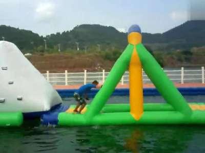 千岛湖欢乐水世界水上闯关秀