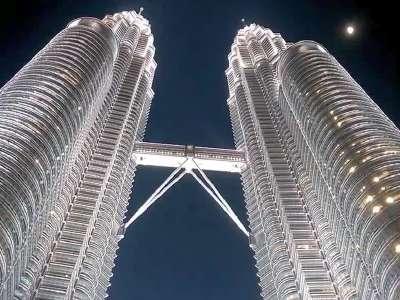 吉隆坡双子塔夜景