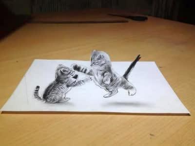 3d猫咪手绘