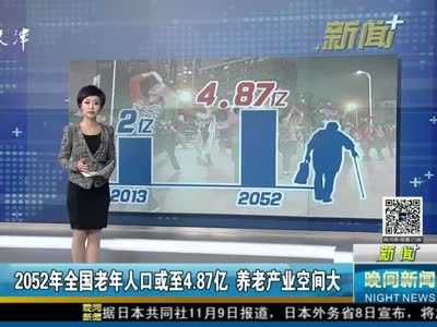 2052年全国老年人口或至4.87亿 养老产业空间大